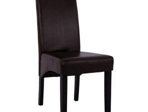 Καρέκλα Roxie HM8328.01 Με Καφέ Τεχνόδερμα