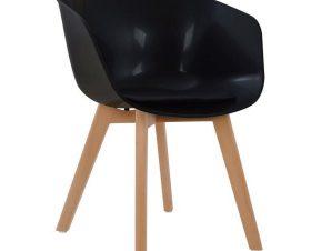 Πολυθρόνα Πολυπροπυλένιου Porthos HM0172.02 Μαύρη