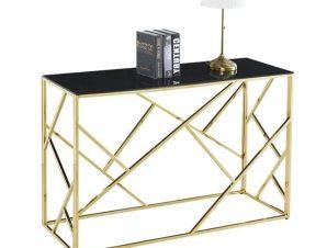 Κονσόλα Jana Black-Gold 120X40X78 HM8620.02