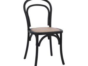 Καρέκλα Βιέννης Aliyah Black HM8644.02 45x54x89 εκ.