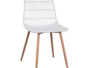 Καρέκλα Giosseta White HM8513.01 46X51X84Y εκ.