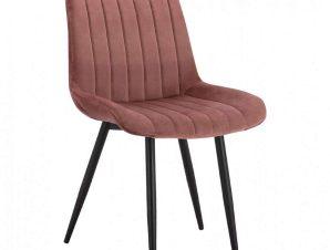Καρέκλα Chase HM8725.02 50x57x82Υcm Dusty Pink-Black
