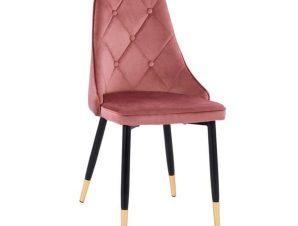 Καρέκλα Fannie HM8701.02 49x53x88Υcm Dusty Pink