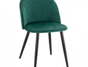 Καρέκλα HM8731.03 49x57x79Υcm Black-Forest Green