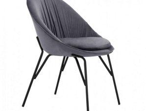 Καρέκλα Kelsey HM8684.11 59x63x84cm Grey-Black