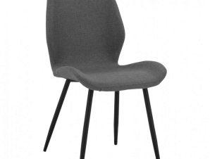 Καρέκλα Klay HM8730.01 49X62,5X87Υcm Grey-Black