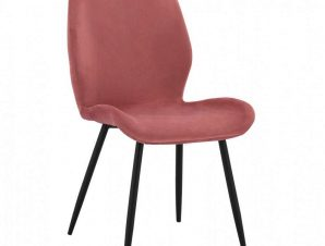 Καρέκλα Klay HM8730.02 49X62,5X87cm Dusty Pink-Black