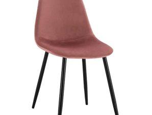 Καρέκλα Leonardo HM00100.02 45x53x85Υcm Dusty Pink