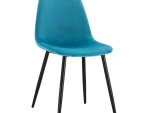 Καρέκλα Leonardo HM00100.18 45x53x85Υcm Turquoise