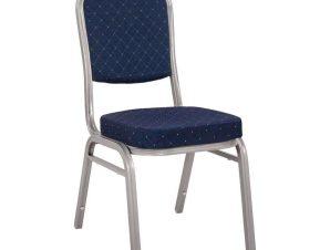 Καρέκλα Συνεδρίου Catering Hilton HM0054.02 44x61x92cm Blue-Silver