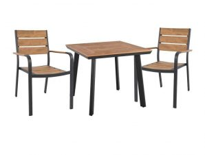 Τραπέζι Με Καρέκλες Σετ 3Τμχ HM10537.02 Anthracite 2 Θέσεων