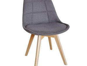 Καρέκλα Bianca 10.0085 49Χ53Χ82cm Grey