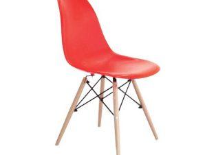 Καρέκλα Art Wood ΕΜ123,6W 46x52x82cm Red