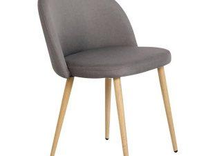 Καρέκλα Bella ΕΜ762,4 54x56x77cm Natural-Dark Grey