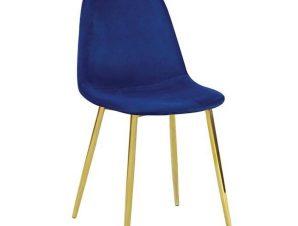 Καρέκλα Celina Velure Blue ΕΜ907,5GV 45x54x85cm