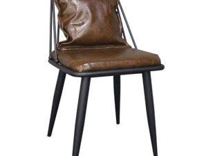Καρέκλα Dante Vintage Brown ΕΜ715,1 42x49x79cm