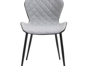 Καρέκλα David Black/Light Grey ΕΜ809 48x51x78cm