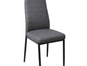 Καρέκλα Jetta Linen Μαύρη/Anthracite ΕΜ966Β,L34 42x49x98cm