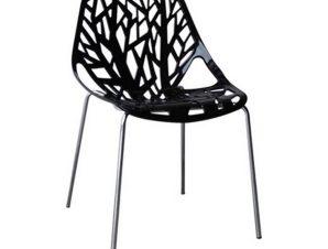 Καρέκλα Linea Black ΕΜ120,2W 54x51x81cm