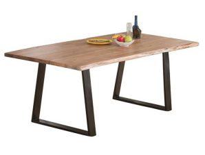 Τραπέζι Lizard Slim Acacia Natural/Black ΕΑ7097,S 160x90x75cm