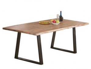 Τραπέζι Lizard Slim Acacia Natural/Black ΕΑ7100,S 200x95x75cm