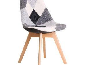 Καρέκλα Martin Patchwork B&W ΕΜ136,81 52x49x82cm