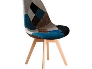 Καρέκλα Martin Patchwork Blue ΕΜ136,83 49x57x82cm