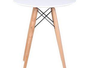 Τραπέζι Art Wood Ε7082,1 D. 60cm H.70,5cm White
