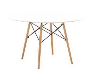 Τραπέζι Art Wood Ε7084,1 D.120cm H.71cm Natural-White