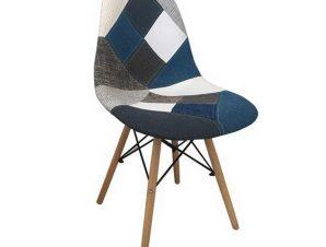 Καρέκλα Art Wood ΕΜ123,83 47x52x84cm Blue-Multi