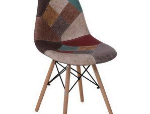 Καρέκλα Art Wood ΕΜ123,82 47x52x84cm Brown-Multi