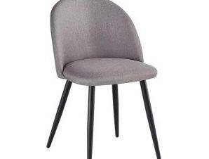 Καρέκλα Bella ΕΜ757,10 50x57x81cm Black Sand Grey
