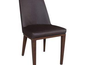 Καρέκλα Caster ΕΜ157,3 45x60x89cm Walnut-Dark Brown