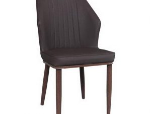 Καρέκλα Delux ΕΜ156,3 49x51x89cm Walnut-Dark Brown