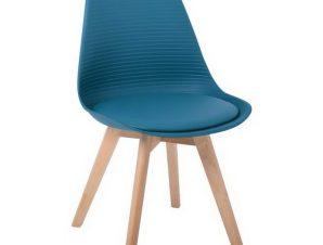 Καρέκλα Martin Stripe ΕΜ136,03S 49x56x82cm Petrol