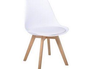 Καρέκλα Martin Stripe ΕΜ136,14S 49x56x82cm White