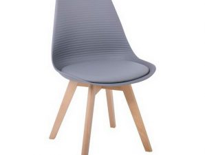 Καρέκλα Martin Stripe ΕΜ136,44S 49x56x82cm Grey