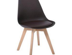 Καρέκλα Martin Stripe ΕΜ136,01S 49x56x82cm Brown