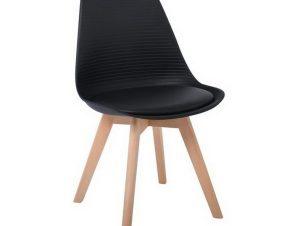 Καρέκλα Martin Stripe ΕΜ136,24S 49x56x82cm Black