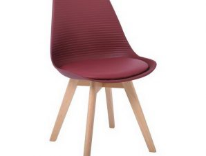 Καρέκλα Martin Stripe ΕΜ136,02S 49x56x82cm Bordeaux