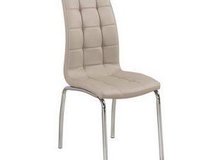 Καρέκλα Melva ΕΜ942,3 42x56x96cm Chrome-Cappuccino