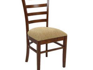 Καρέκλα Naturale Ε7052,2 42x50x91cm Walnut-Beige