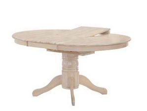 Τραπέζι Επεκτεινόμενο Nirvana Ε7680,1 D.106 +30x75cm White
