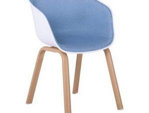 Πολυθρόνα Optim ΕΜ140,5F 54x51x79cm White-Blue