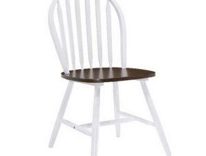 Καρέκλα Sally Ε7080,5 44x51x93cm White-Walnut