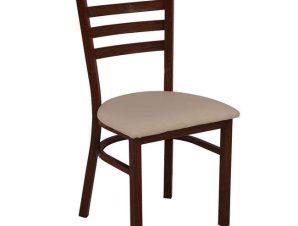 Καρέκλα Ε5163,1 43x46x85cm Beige-Walnut